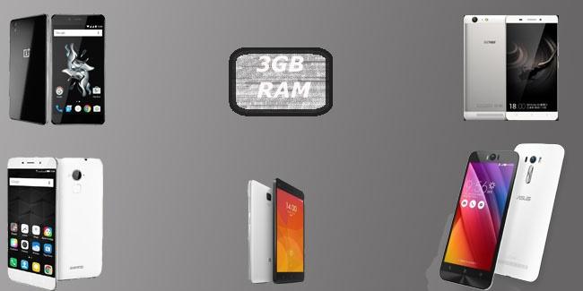 Best smartphone with 3GB RAM