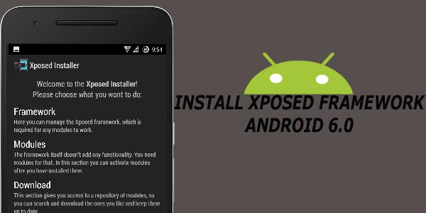 install xposed framework on android marshmallow