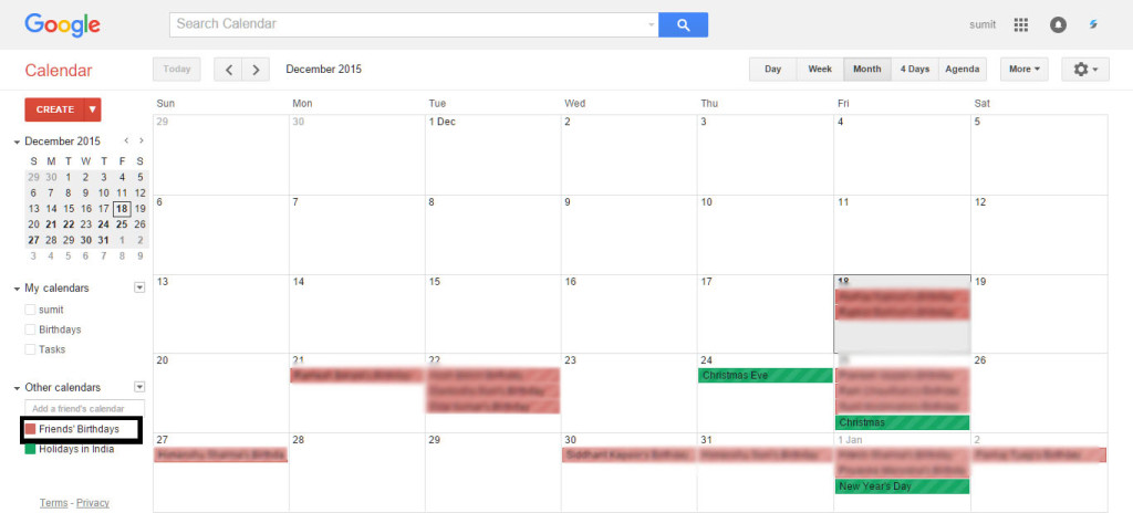 sync Facebook birthdays and google calendar
