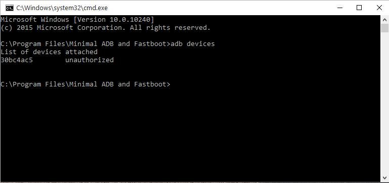 Check adb is configured properly