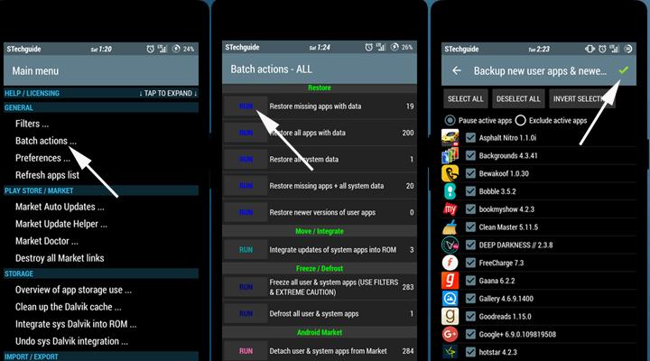Restore apps with Titanium backup
