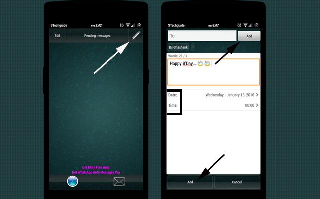 Whatsapp message scheduler root