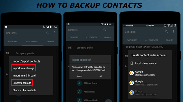 How to Back Up Your contacts