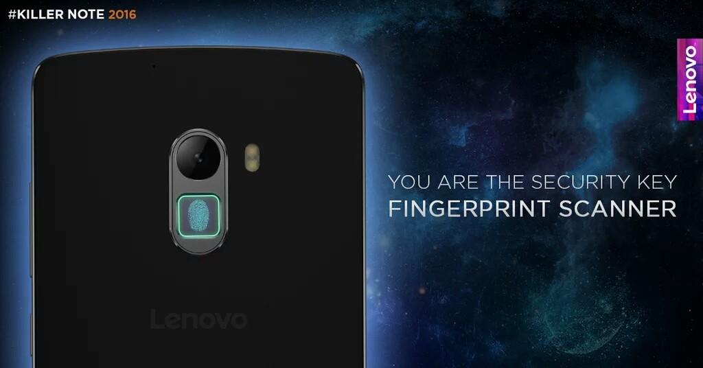 k4 note with fingerprint sensor