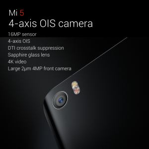 Mi5 with 4-axis OIS camera