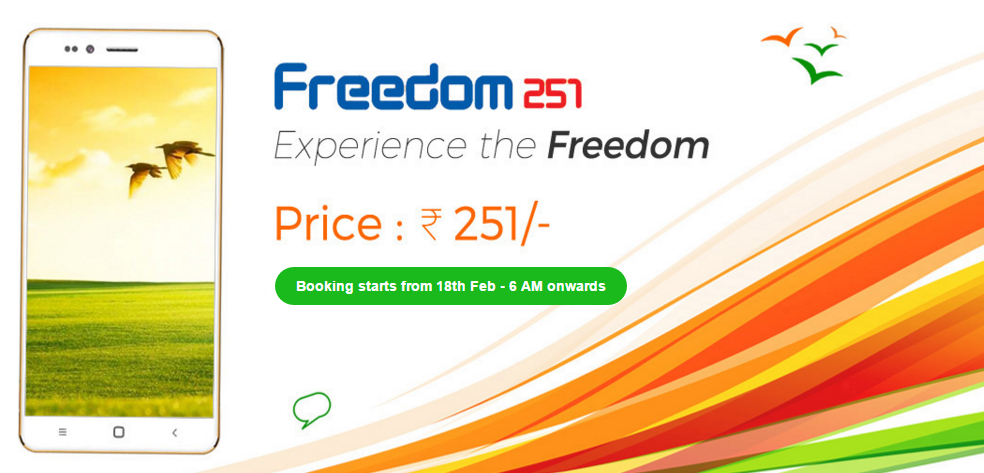 Cheapest smartphone Freedom 251
