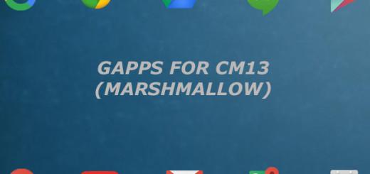 Download gapps for cm13