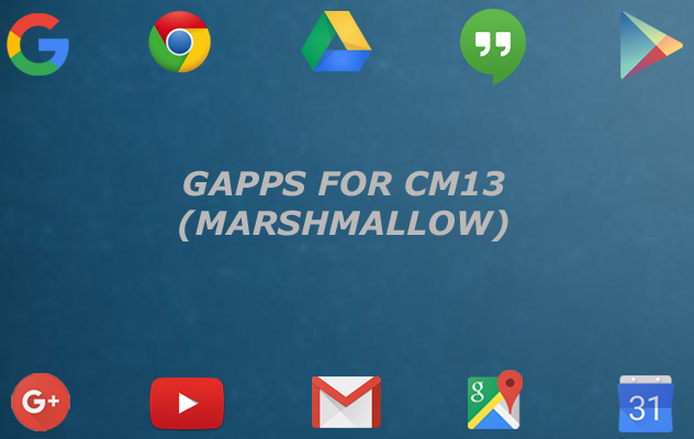 Download gapps for cm13