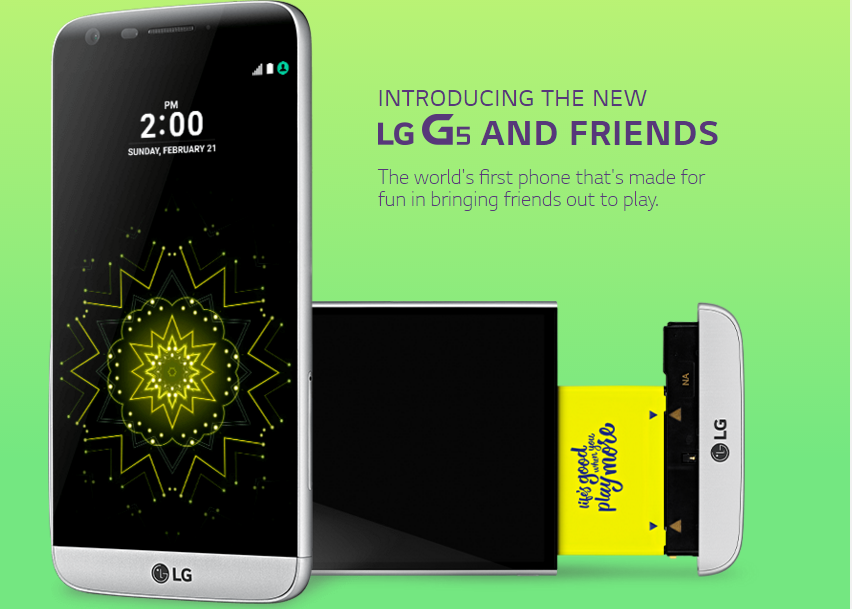 LG G5 with Friends