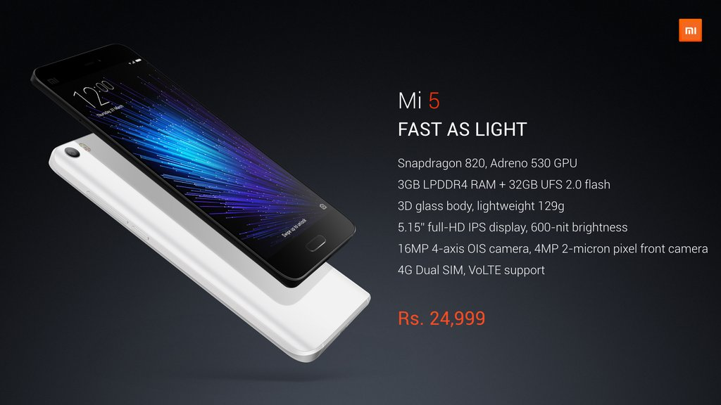 Specifications of Mi 5