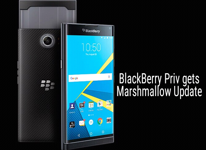 Marshmallow update for BlackBerry PRIV