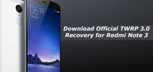 Download Official TWRP 3.0 Recovery for Redmi Note 3