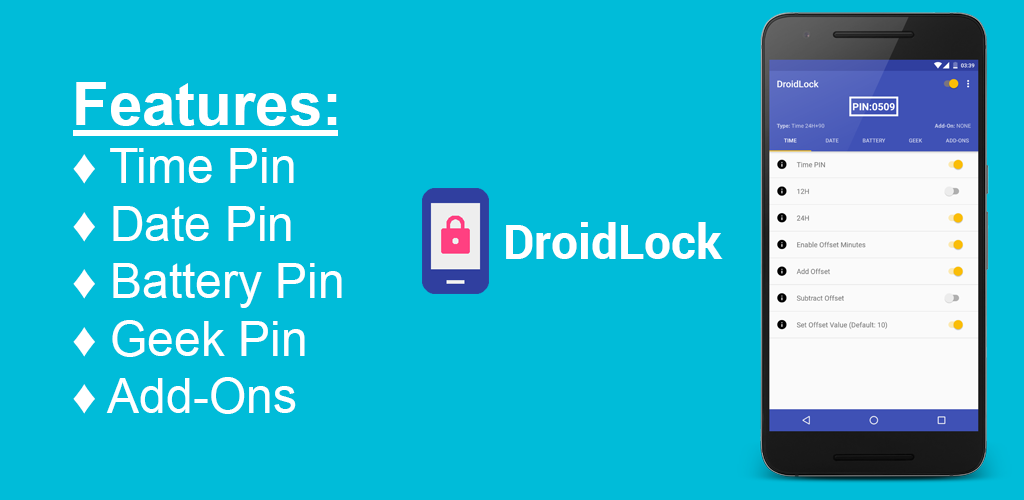Download DroidLock Lockscreen