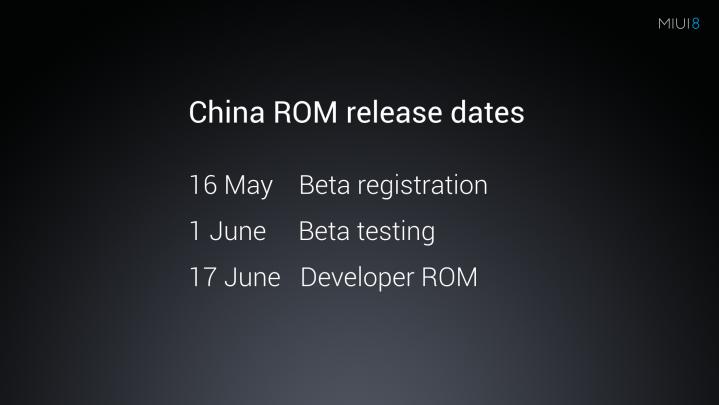 MIUI 8 Release Date
