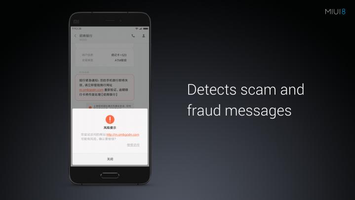 miui 8 SMS Security