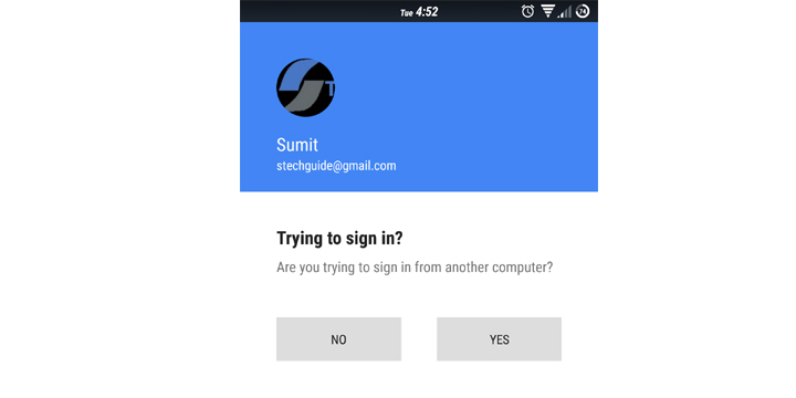 enable Google prompt