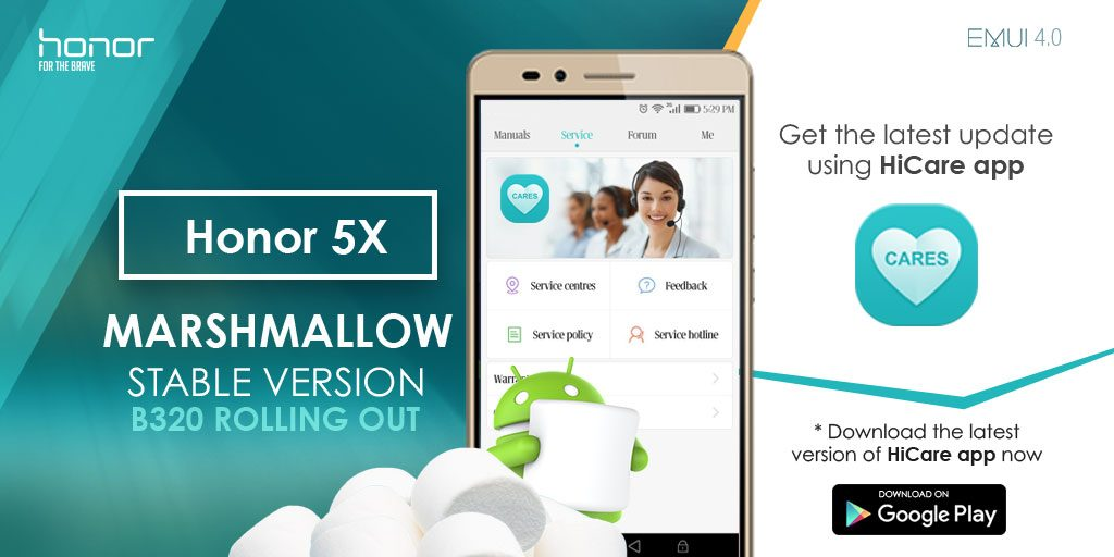 Marshmallow Update for Honor 5X