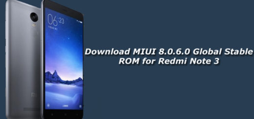Download MIUI 8.0.6.0 Global Stable ROM for Redmi Note 3