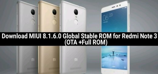 Download MIUI 8.1.6.0 Global Stable ROM for Redmi Note 3