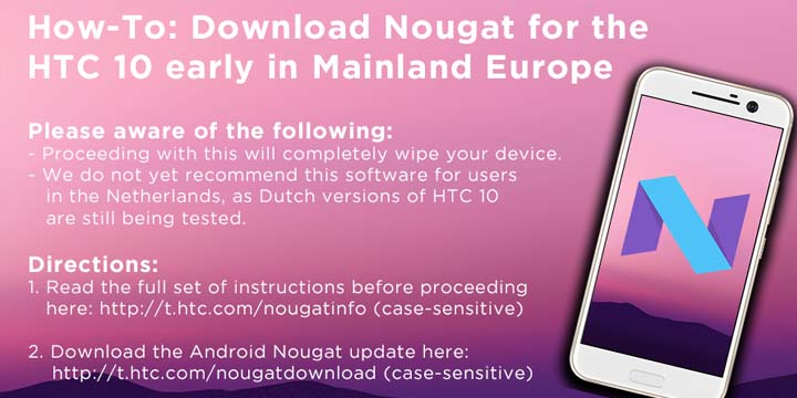 Download HTC 10 Android Nougat Firmware