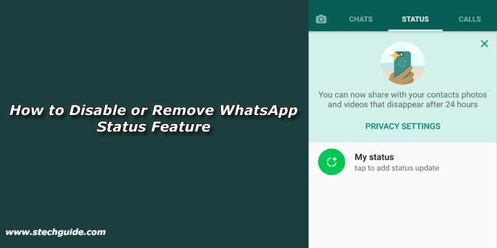 How to Disable or Remove WhatsApp Status Feature