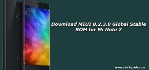 Download MIUI 8.2.3.0 Global Stable ROM for Mi Note 2