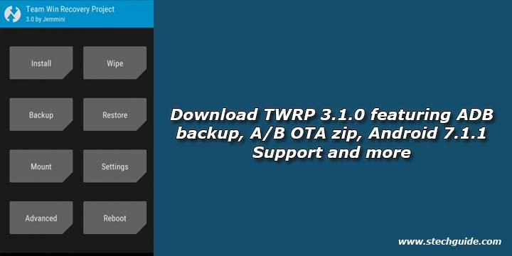 Download TWRP 3.1.0