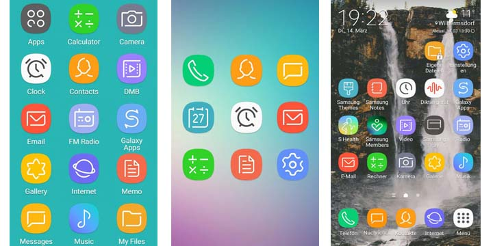 download samsung galaxy s8 theme for samsung devices dream ux port