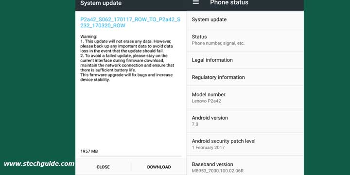 Lenovo P2 Android 7 0 Nougat Update Starts Rolling Out