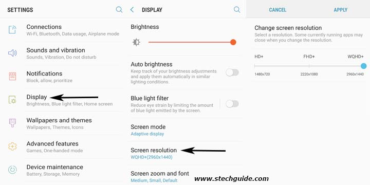 How to Change Display Resolution on Samsung Galaxy S8