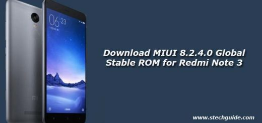 Download MIUI 8.2.4.0 Global Stable ROM for Redmi Note 3