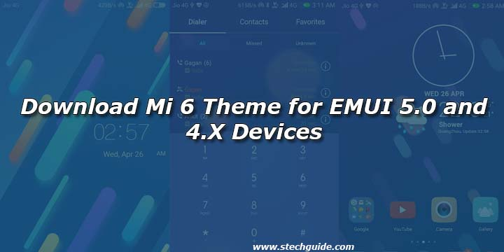 Download Mi 6 Theme for EMUI 5.0 and 4.X Devices