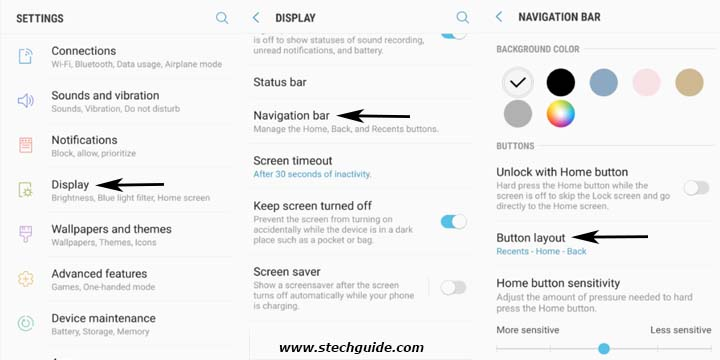 Swap Galaxy S8 Buttons