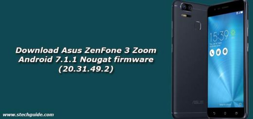 Download Asus ZenFone 3 Zoom Android 7.1.1 Nougat firmware (20.31.49.2)