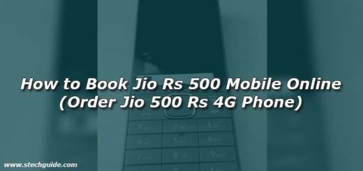 How to Book Jio Rs 500 Mobile Online (Order Jio 500 Rs 4G Phone)