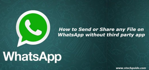 How to Send or Share any File on WhatsApp without third party app