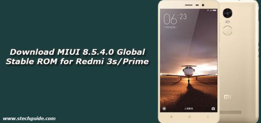 Download MIUI 8.5.4.0 Global Stable ROM for Redmi 3s/Prime