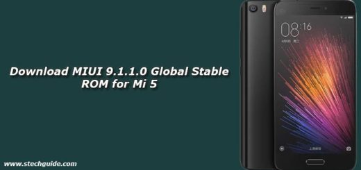 Download MIUI 9.1.1.0 Global Stable ROM for Mi 5