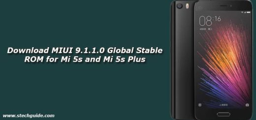 Download MIUI 9.1.1.0 Global Stable ROM for Mi 5s and Mi 5s Plus