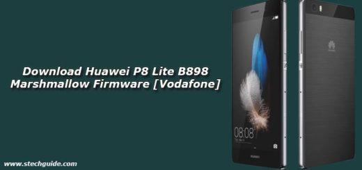 Download Huawei P8 Lite B898 Marshmallow Firmware [Vodafone]