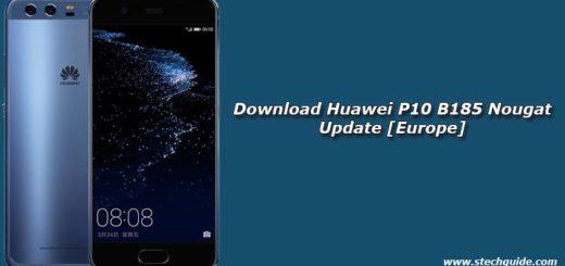 Download Huawei P10 B185 Nougat Update [Europe]