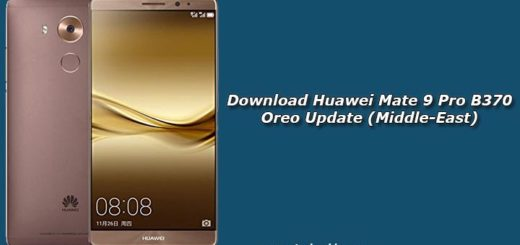 Download Huawei Mate 9 Pro B370 Oreo Update (Middle-East)