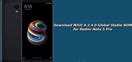 Download MIUI 9.2.4.0 Global Stable ROM for Redmi Note 5 Pro