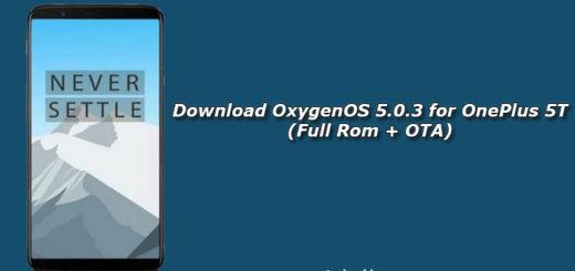 Download OxygenOS 5.0.3 for OnePlus 5T (Full Rom + OTA)