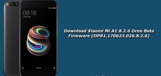 Download Xiaomi Mi A1 8.2.6 Oreo Beta Firmware (OPR1.170623.026.8.2.6)