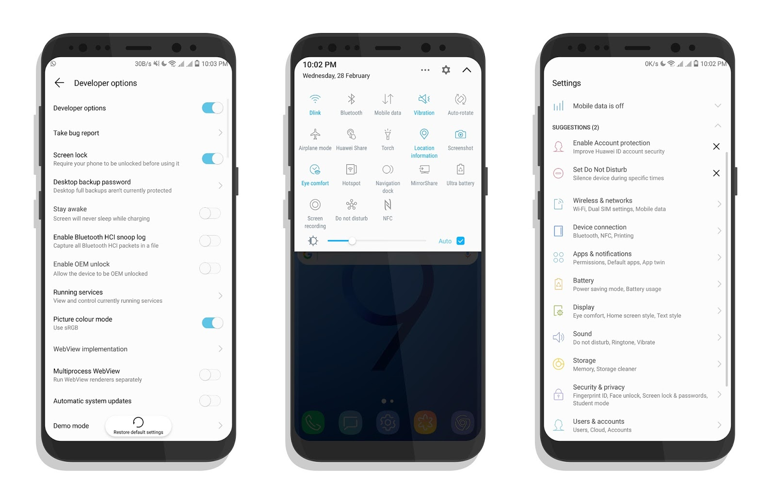 Download Samsung Galaxy S9 Theme for EMUI 5 and 4 X Devices