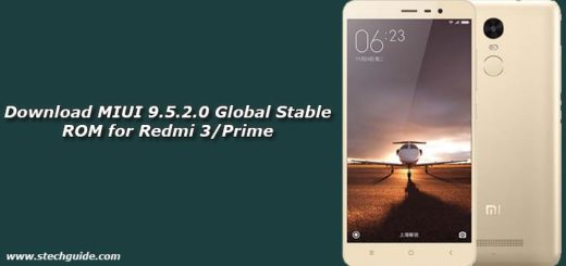 Download MIUI 9.5.2.0 Global Stable ROM for Redmi 3/Prime