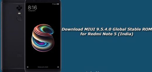 Download MIUI 9.5.4.0 Global Stable ROM for Redmi Note 5 (India)