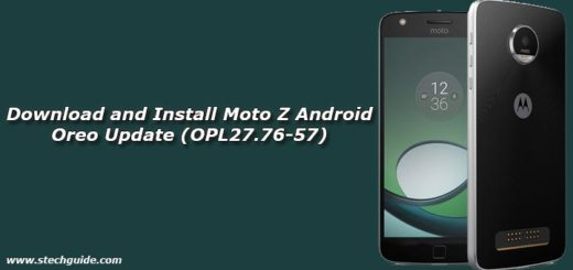 Download and Install Moto Z Android Oreo Update (OPL27.76-57)