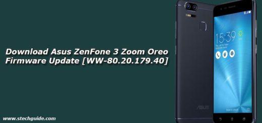 Download Asus ZenFone 3 Zoom Oreo Firmware Update [WW-80.20.179.40]
